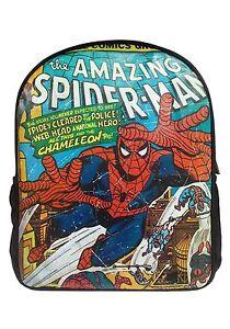 Rétro Marvel Bd Spider-Man Grand Sac à Dos École Bureau Vacances Tout Neuf