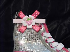 Kids White Flower & Strawberry Shoe Clips for Shoes