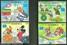 DOMINICA DISNEY AMERIPEX  1986 SET SCOTT #954/57   MINT NEVER HINGED COMPLETE