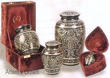 "Brass Cremation Urn w. Velvet Box, 6"" Infant/Pet Size"