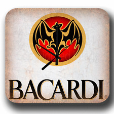 BACARDI VINTAGE ADVERTISING RETRO PUB BAR METAL TIN SIGN WALL CLOCK