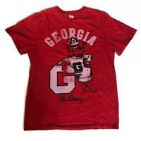 Chubbies University of Georgia Bulldogs T Shirt Red UGGA Men's Szie: S, M, L