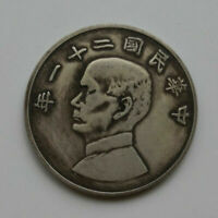 twenty one year Republic of China Sun Yat-sen 100% silver Coin  37.3g