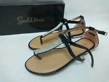 Sandal House Black Women's Sandals Size UK 4 / EU 37