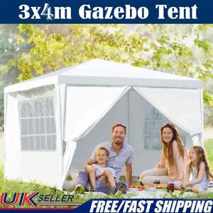 3x4M Waterproof Gazebo Marquee Canopy Party Tent Outdoor Garden Patio Heavy Duty