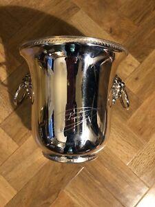 Rare Silver plate VEUVE CLICQUOT PONSARDIN CHAMPAGNE ice bucket cooler signature