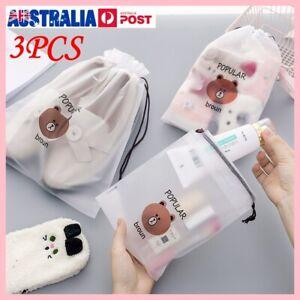 3PCS Travel Pouch Storage Shoe Bag Portable Tote Drawstring  Bags Dust Bags