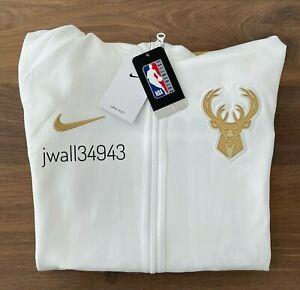NEW Authentic Nike Milwaukee Bucks Men's NBA Showtime CHAMPIONS Full-Zip Hoodie
