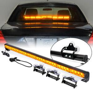 """35.5"""" LED Strobe Light Bar Amber Dash Emergency Warning Traffic Advisor Trucks"""
