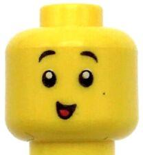 Lego New Light Flesh Minifigure Head Bright Pink Headband with Squinted Batman