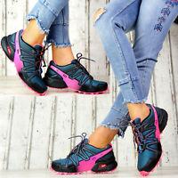 Neu Damen Sneaker Sportschuhe Freizeit Neon Damenschuhe Stiefeletten Laufschuhe