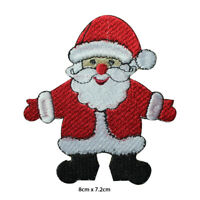 Santa Claus Christmas Xmas Embroidered Patch Iron on Sew On Badge