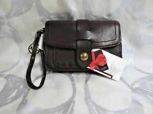 NWT RARE COACH Wristlet Wallet Legacy Thompson Brown Pebble Leather 40938