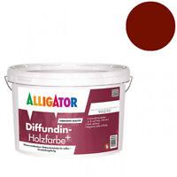 """Alligator Diffundin Holzfarbe + 2,5l """"Schwedenrot"""" Wetterschutzfarbe"""