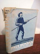 1st Edition thus PAUL BUNYAN Esther Shephard ROCKWELL KENT Illustrated CLASSIC
