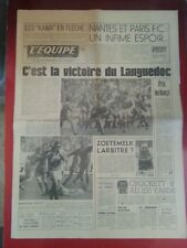 journal  l'équipe 13/05/74 RUGBY FINALE CHAMPIONNAT DE FRANCE BEZIERS NARBONNE