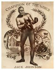 Jack Johnson **LARGE POSTER** Boxing Heavyweight Championship 1909