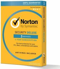 Norton Internet Security Deluxe 2020 - 3 Appareils -  1 an - Clé Officielle