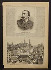 Harper's Weekly Single Page B1#82 Jul 1878 Metropolitan Elevated Railway