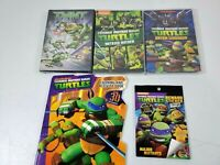 Teenage Mutant Ninja Turtles Coloring & Activity Book Lot w/ 3 DVD Movie's New