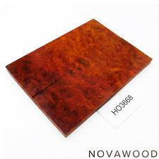 ROTES AMBOINA MASER MESSER SCHALENPAAR HOLZ SCALES AMBOYNA BURL SCALES HO3668