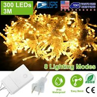 3M 300 LED Curtain String Fairy Light Christmas Wedding Garden Party Decoration