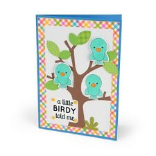 Sizzix Framelits Dies 4/Pkg W/Stamps By Doodlebug - A Little Bird Told Me