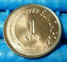 1985 Singapore 1 Cent High Rise Public Housing Coin Uncirculated