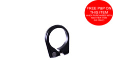 35mm SEAT CLAMP COLLAR,OFFSET CLAMP SLIM STYLE COLD FORGED LIGHT ALLOY BLACK