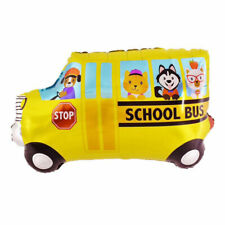 SCHOOL BUS Shape Birthday Party Foil Balloon Kids Children Gifts Decorations