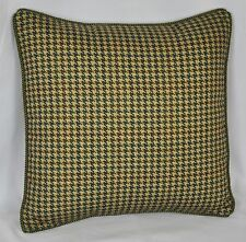 "Pillow made w/ Ralph Lauren Edgefield Green Herringbone Fabric 16"" trim cording"