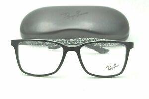 Ray Ban RB 8905 Eyeglasses 5843 Carbon Fiber Black Frames 53mm + Case