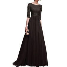 Ladies Long sleeve Lace Evening Formal Party Ball Gown Prom Bridesmaid Dress lot