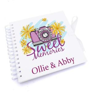 Personalised memories Scrapbook Photo album for couples friends or family