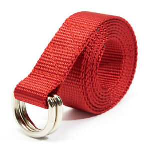 """D-Ring Nylon Belts built by apmots - 1"""" inch wide - Custom Color Length Options"""