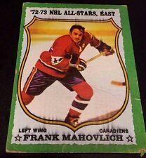 FRANK MAHOVLICH 1973-74 Topps ERROR Print Black Streaked Ink OddBaLL Card #40