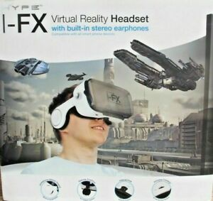 HYPE I-FX Virtual Reality Headset w/Built-in Headphones in White