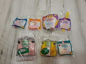 McDonald's POLLY POCKET Complete Set 1-4 Sealed Toys new w/ Watch