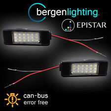 Für Citroen C2 C3 C4 C5 C6 C8 DS3 & Pluriel 18 LED Kennzeichenbeleuchtung Lampe Paar