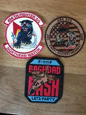 USAF patch set 6 3 RAF Lakenheath patches F-15E 494 FS EFS F-111 is UK made!!