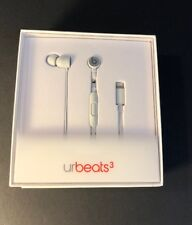 Beats by Dr Dre urBeats 3 Matte SILVER Edition [ Lightning Connector ] NEW