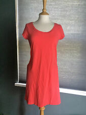 NEW GAP PURE COTTON SEAM DETAIL CORAL SLUB T-SHIRT DRESS SMALL RRP £39.95