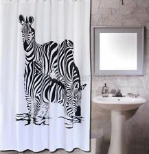 Black & White Animal Zebra Design Bathroom Fabric Shower Curtain fs314