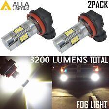 Alla Lighting 3200lm 6000K 27-LED H11 Fog Light Driving Bulbs Lamps Xenon White