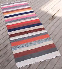 Turkish Kilim Rug 30''x75'' Oriental Rag Rug Runner Kilim Colorful Hallway Rug