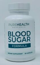 Pure Health Research Blood Sugar Formula PureHealth Supplement 30 Capsules NEW