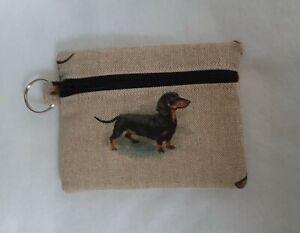 DACHSHUND Sausage Dog modesty purse pouch Sanitary Case Bag Holder Pads Cards