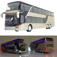 1:32 Simulated Alloy Double Decker Bus Pull Back Model Toy with Sound Light
