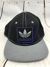 ADIDAS Ball Cap Black Purple Embroidered Logo One Size Adjustable