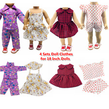 """Doll Clothes Accessories 4 Sets Doll Dress Hats for 18"""" Dolls Doll Outfits 18"""